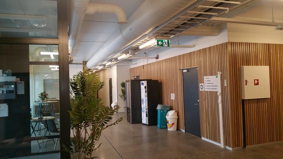 Sandarhallen - fellesområder med vendingsmaskiner