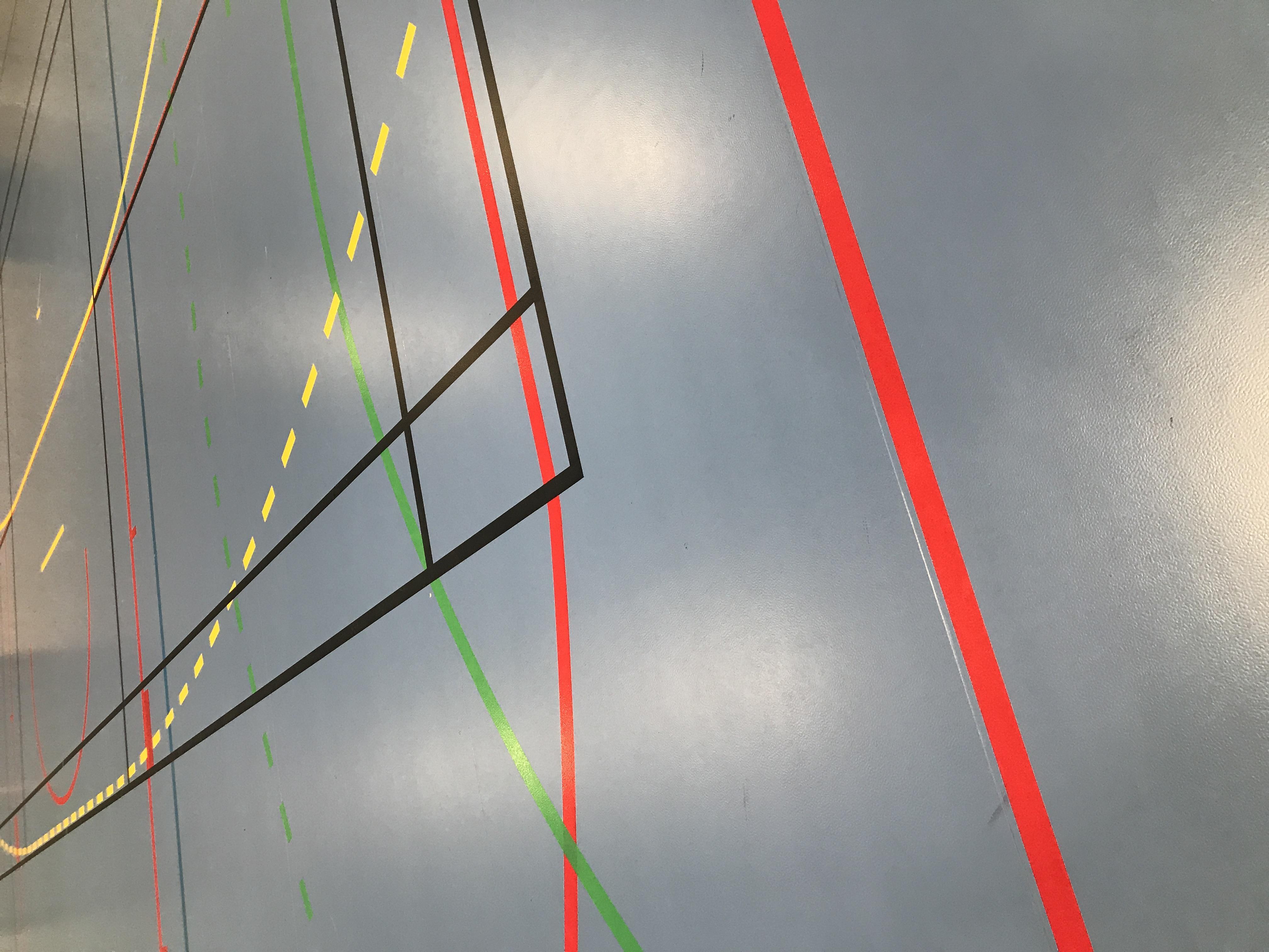Sandarhallen - oppmerking håndball, minihåndball, basket, volleyball, badminton